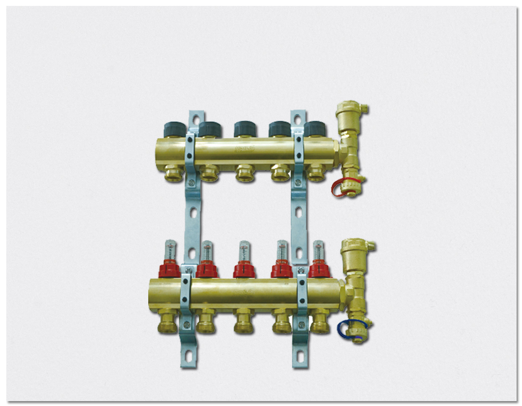 Flow display type Manifold - Brass